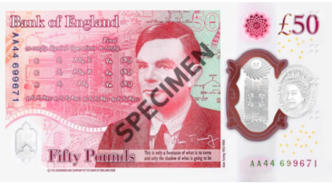 Alan Turing Bank note specimen