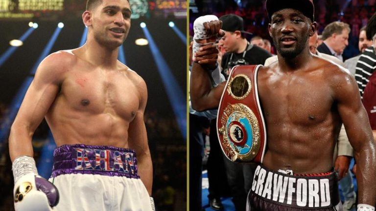 Terence Crawford, Amir Khan tease fight announcement next week