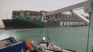 $9.6 Billion worth of Goods held up by Suez Canal Blockage