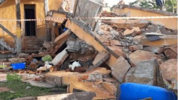 one dead at two storey building in ikorodu