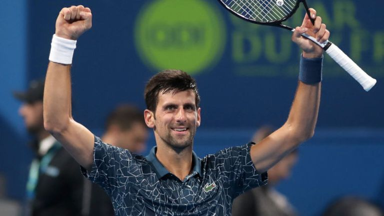 Djokovic into Qatar quarter-finals after scare